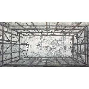 Daniel Senise (1955) - Sem título monotipia de piso de madeira 210 x 430 cm (díptico) assinada no verso 2005 Estimativa: R$ 280.000 - 340.000