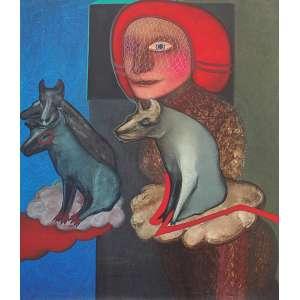 Siron Franco (1947) - O cotidiano da garçonete óleo sobre tela 154 x 133,5 cm assinada no verso 1982 Estimativa: R$ 60.000 - 90.000
