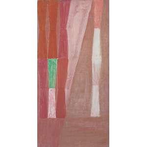Alfredo Volpi (1896 - 1988) - Sem título têmpera sobre cartão 43,5 x 21,5 cm assinada canto inferior direito início década 60 Registrada no Projeto Volpi sob nº 2204. Reproduzida no Catálogo de Obras 2015, página 272. Estimativa: R$ 180.000 - 240.000