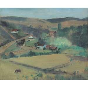 José Pancetti (1902 - 1958) - Campos do Jordão - Bairro Abissinia óleo sobre tela 37,5 x 45,5 cm assinada canto inferior direito e verso 1949 Estimativa: R$ 360.000 - 380.000