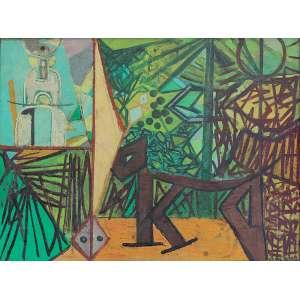 Cicero Dias (1907 - 2003) - Sem título óleo sobre tela 60 x 80 cm assinada canto inferior direito Estimativa: R$ 280.000 - 360.000