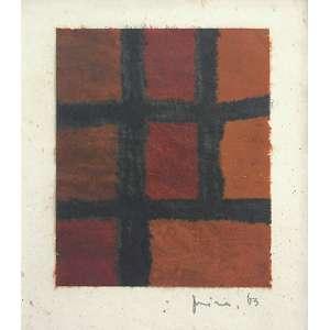 Mira Schendel (1919 - 1988) - Sem título ecoline e nanquim sobre papel de arroz 17 x 16 cm assinada canto inferior direito 1963 Estimativa: R$ 30.000 - 40.000