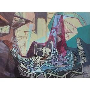 Roberto Burle Marx (1909 - 1994) - Sem título pintura sobre tecido 115 x 156 cm assinada canto inferior direito 1992 Estimativa: R$ 70.000 - 100.000