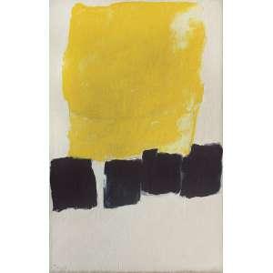 Tomie Ohtake (1913 - 2015) - Amarelo óleo sobre tela 134 x 89 cm assinada canto inferior esquerdo e verso 1965 Registrada no Instituto Tomie Ohtake sob nº P 65 -033 Estimativa: R$ 600.000 - 700.000