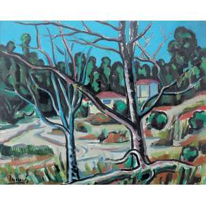 Inimá De Paula (1918 - 1999) - Paisagem acrílica e óleo sobre tela 80 x 100 cm assinada canto inferior esquerdo e verso 1981 Estimativa: R$ 45.000 - 60.000