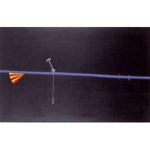 Emmanuel Nassar (1949) - Sem título - acrílica sobre tela - 90 x 140 cm - assinada no verso - 1992