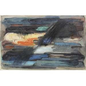 Samson Flexor (1907 - 1971) - Sem título - óleo sobre tela - 90 x 130 cm - assinada canto inferior esquerdo - 1959 - Com etiquetaII Salão Anual de Curitiba, Museu de Arte do Paraná. Com etiqueta Galeria São Paulo.