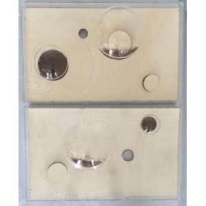 Roberto Bethônico (1964) - Sem título - incisão de ponta seca sobre papel, pó de ferro, vinil adesivo e acrílico - 31 x 51 cm cada - 2008 - Acompanha certificado Celma Albuquerque Galeria de Arte.