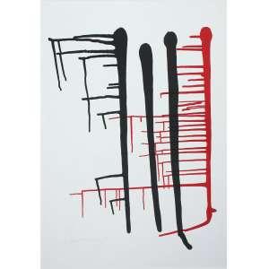 Anna Maria Maiolino (1942) - Sem título - gravura 30/40 - 100 x 70 cm - assinada canto inferior esquerdo - 1995
