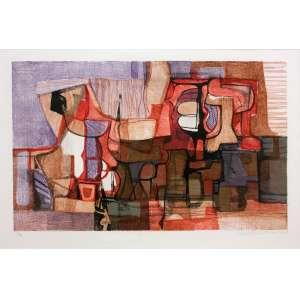 Roberto Burle Marx (1909 - 1994) - Lili - litografia 37/50 - 50 x 73 cm - assinada canto inferior direito - 1987