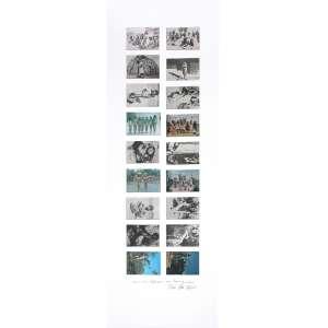 Anna Bella Geiger (1933) - ... com o meu despreparo como homem primitivo... - 18 fotografias - 138 x 48 cm - assinada canto inferior direito - 1977