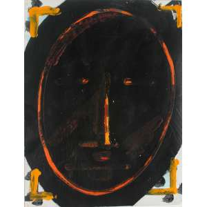 Artur Barrio (1945) - Série Africana - acrílica sobre papel - 32 x 25 cm - sem assinatura