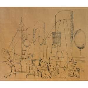 Lasar Segall (1891 - 1957) - Emigrantes - ponta-seca (matriz de cobre) 5/20 - 28,5 x 34,5 cm - assinada canto inferior direito - 1929 - Reprodução:Livro A gravura de Lasar Segall, página 116.