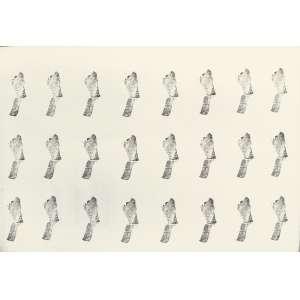 Carmela Gross (1946) - Carimbos - Série Manchas - carimbo sobre papel - 70 x 100 cm - 1978 - Reprodução: Livro Carmela Gross, Editora Cobogó 2017, página 19.