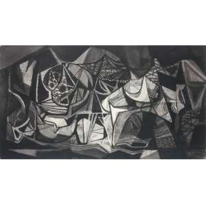 Roberto Burle Marx (1909 - 1994) - Sem título - nanquim - 64 x 102 cm - assinado canto inferior direito - 1976
