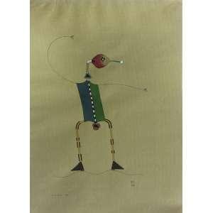 Roberto Magalhães (1940) - Kung Fu - aquarela e nanquim - 24 x 33 cm - assinada canto inferior direito - 1974