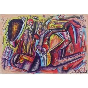 Antonio Henrique Amaral (1935 - 2015) - Sem título - pastel - 32 x 44,5 cm - assinada canto inferior direito - 1980