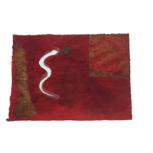 Antonio Dias (1944 - 2018) - Sem título - técnica mista com ouro, recorte e colagem - 24 x 33 cm - assinada canto inferior direito