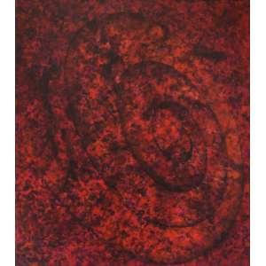 Tomie Ohtake (1913 - 2015) - Sem título - óleo sobre tela - 180 x 160 cm - assinada canto inferior esquerdo e verso - 1992 - Registrada no Instituto Tomie Ohtake sob nº P 92 18. - Reprodução: Livro Tomie Ohtake, 2001, página 261.