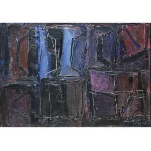 Iberê Camargo (1914 - 1994) - Signos VI - óleo sobre tela - 65 x 92 cm - assinada canto inferior direito e verso - 1984