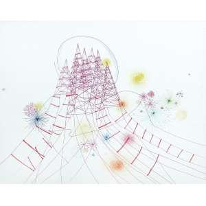 Sandra Cinto (1968) - Sem título - caneta colorida sobre papel - 40 x 50 cm - 2007 - Acompanha certificado Galeria Luisa Strina.