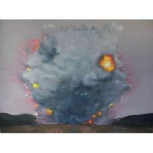 Ana Prata (1980) - Sem título - óleo sobre tela - 190 x 250 cm - assinada no verso - 2010