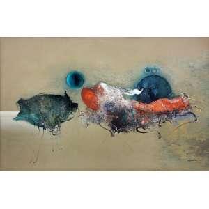 Manabu Mabe (1924 - 1997) - Sem título - óleo sobre tela - 100 x 150 cm - assinada canto inferior direito - 1971