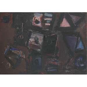 Iberê Camargo (1914 - 1994) - Sem título - óleo sobre placa - 25 x 35 cm - assinada canto inferior direito e verso - 09/07/1981
