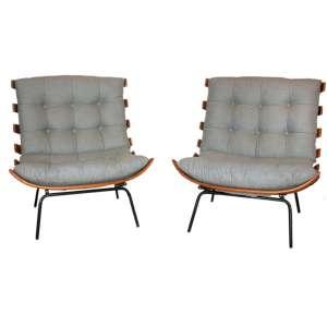 Martin Eisler - Par de Poltronas Costela - Forma - madeira e ferro - 73 x 76 x 80 cm - década 50