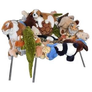 Fernando e Humberto Campana - Banquete Chair - stuffed toys, canvas, and stainless steel. Edição 133/150 - 85 x 100 x 140 cm - 2002 - Reprodução: Livro Campana Brothers Complete Works (so far), página 187.