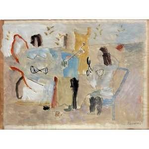 Thomaz Ianelli (1932 - 2001) - Sem título - aquarela e guache - 20 x 27 cm - assinada inferior direito