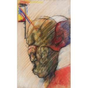 Flávio Shiró (1928) - Sem título - pastel seco e carvão - 32 x 24,5 cm - assinada canto inferior direito
