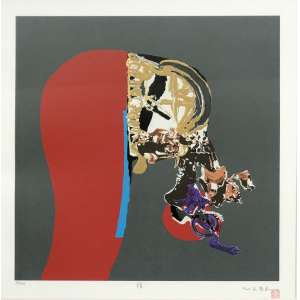 Manabu Mabe (1924 - 1997) - Sem título - serigrafia edição 70/100 - 51 x 51 cm - assinada canto inferior direito