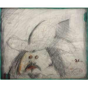 Ivald Granato (1949 - 2016) - Arteprecária - grafite, guache e lápis de cor - 44 x 54 cm - assinada canto inferior direito
