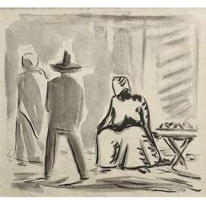 Oswaldo Goeldi (1895 - 1961) - Sem título - nanquim - 23 x 25 cm - assinada canto inferior direito