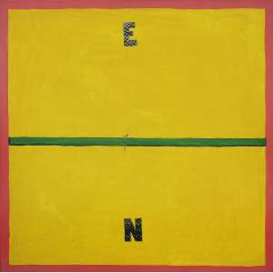 Emmanuel Nassar (1949) - Sem título - acrílica sobre tela - 90 x 90 cm - assinada no verso - 2002