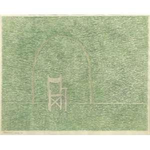 Eleonore Koch (1926 - 2018) - Sem título - lápis de cera - 38 x 47 cm - assinada canto inferior esquerdo - março 70