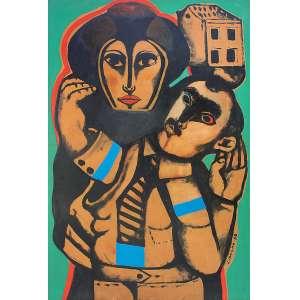 João Câmara Filho (1944) - Sem título - óleo sobre placa - 95 x 64,5 cm - assinada canto inferior direito - 1969