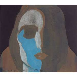 Emiliano Di Cavalcanti (1897 - 1976) - Figura - aquarela e pastel - 17 x 19 cm - assinada canto inferior esquerdo - decada 20