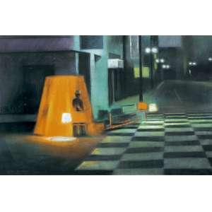 Gregório Gruber (1951) - Sem título - pastel - 70 x 100 cm - assinada canto inferior esquerdo - 1982