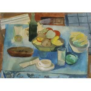 Yolanda Mohalyi (1909 - 1978) - Sem título - aquarela - 52 x 70 cm - assinada canto superior esquerdo
