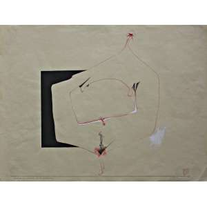 Wesley Duke Lee (1931 - 2010) - Resultado das conversas de 24 de novembro - nanquim e guache - 47 x 62 cm - assinada canto inferior direito - 24.11.1960