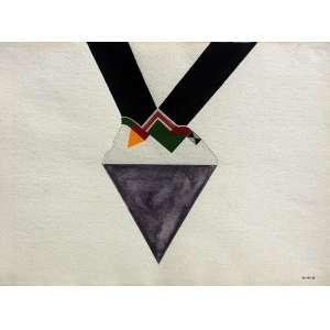 Roberto Magalhães (1940) - Sem título - guache e nanquim - 28 x 38 cm - assinada canto inferior direito - Fevereiro 1968