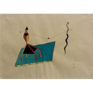 Roberto Magalhães (1940) - Sem título - aquarela e nanquim - 24 x 33 cm - assinada canto inferior direito - 1974