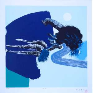 Manabu Mabe ( 1924 - 1997 ) Água - gravura 31/100 - 51 x 51 cm - assinada canto inferior direito