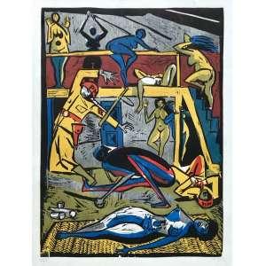 Carybé ( 1911 - 1997 ) Sem título - print 31/65 - 52 x 38,5 cm - assinada canto inferior direito