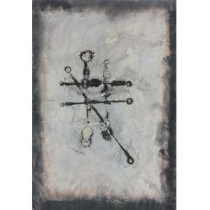 Antonio Bandeira ( 1922 - 1967 ) Sem título - nanquim e aquarela - 49 x 34 cm - assinada canto inferior direito - 1966