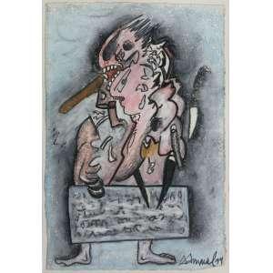 Antonio Henrique Amaral ( 1935 - 2015 ) Sem título - pastel, óleo e grafite sobre papel - 25,5 x 17,5 cm - assinada canto inferior direito - 1994