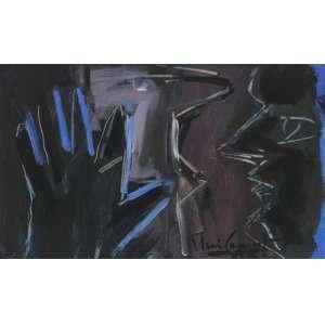 Iberê Camargo ( 1914 - 1994 ) Sem título - óleo sobre papel - 25 x 36 cm - assinada canto inferior direito - 1985