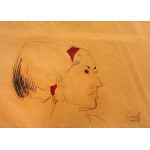 Wesley Duke Lee ( 1931 - 2010 ) Sem título - carvão e guache - 51 x 67 cm - assinada canto inferior direito - 1964